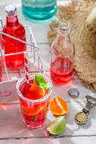 Cold summer drink with citrus fruit Royalty Free Stock Image