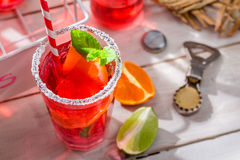 Cold summer drink with citrus fruit Stock Photography