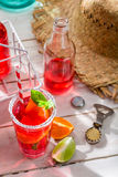 Cold summer drink with citrus fruit Royalty Free Stock Photos