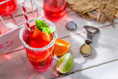 Cold summer drink with mint leaf Stock Photography