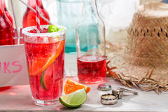 Cold summer drink with mint leaf Royalty Free Stock Photos