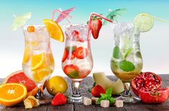 Cold Summer drinks Royalty Free Stock Images