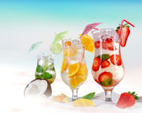 Cold Summer drinks Stock Image