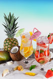 Cold Summer drinks Stock Images