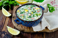 Cold summer soup Royalty Free Stock Photography