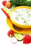 Cold summer soup kefir Stock Photography