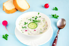 Cold summer soup Stock Image