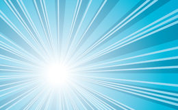 Cold sunburst background Royalty Free Stock Image