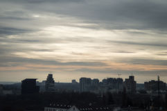 Cold sundown at Kiev Stock Photography