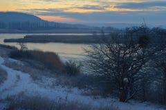 Cold sunrise Royalty Free Stock Image