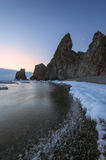 Cold sunrise at Cape Four Rocks. Royalty Free Stock Photography