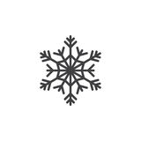 Cold symbol, Snowflake line icon, outline vector sign, linear pi Royalty Free Stock Photography