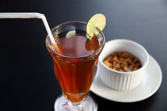 Cold tea with peanut Royalty Free Stock Photo