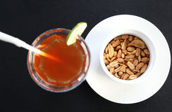 Cold tea with peanut Royalty Free Stock Photos