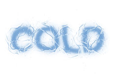 Cold (Text serie) Stock Photos