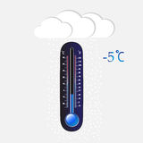 Cold thermometer Stock Photos