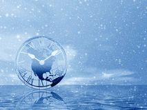 Cold Time . Snowstorm Royalty Free Stock Photo
