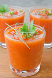 Cold tomato soup Royalty Free Stock Photography