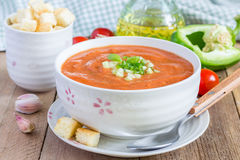 Cold tomato soup gazpacho Stock Image