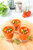 Cold tomato soup gazpacho Stock Photo