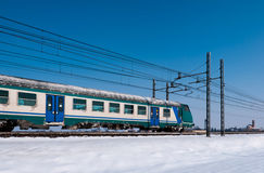 Cold train Stock Photography