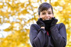 Cold training in fall Royalty Free Stock Photography