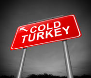 Cold turkey concept. Royalty Free Stock Photos