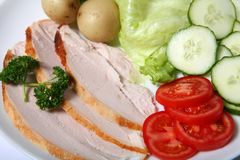 Cold turkey salad close-up Royalty Free Stock Photos