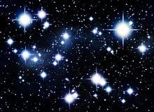 Cold universe stars royalty free illustration