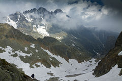 Cold valley in High Tatra Royalty Free Stock Image