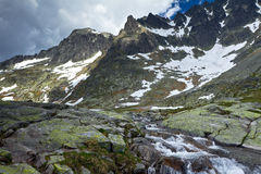 Cold valley in High Tatra Stock Photos