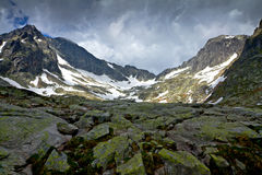 Cold valley in High Tatra Stock Photography