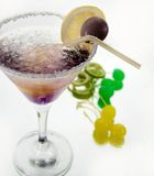 Cold violet drink Royalty Free Stock Images