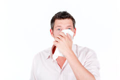 Cold virus sneeze Royalty Free Stock Images