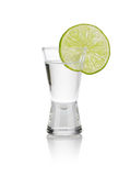 Cold vodka shots Royalty Free Stock Photo