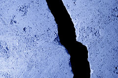 Cold wall crack. Stock Image