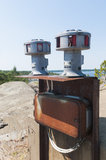 Cold War air raid warning siren Royalty Free Stock Photos