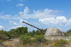 Cold war coastal artillery Landsort Royalty Free Stock Photos