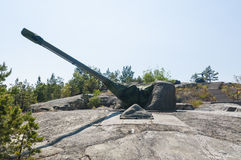 Cold War coastal artillery Sweden Stock Photography