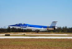 Cold War era jetfighter stock photo