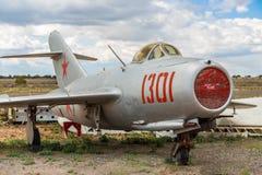 Cold War Era USSR Soviet MIG 15 Fighter Jet Aircraft royalty free stock photos