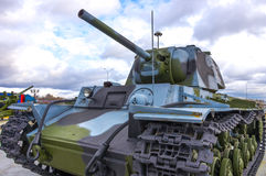 Cold war russian tank Stock Images