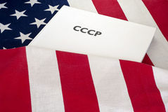 Cold war USA and USSR Stock Photo