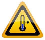 Cold warning sign Royalty Free Stock Photos