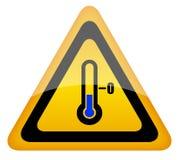 Cold warning sign vector illustration