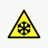 Warning sign Vector illustration. Cold Warning sign. Hazard symbols Stock Photos