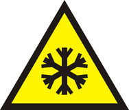 Cold warning sign,. Illustration Royalty Free Stock Photography
