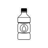 Cold water bottle Stock Image