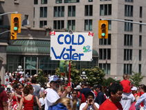 Cold Water on Canada Day Stock Photos