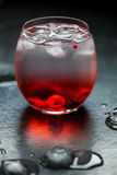 Cold Water Drink with Berries and Ice Royalty Free Stock Photography